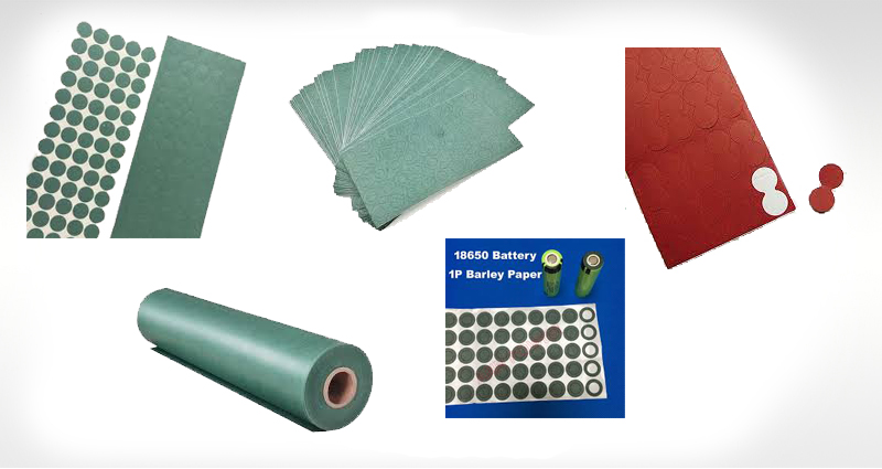 Insulation Gasket Barley Paper / Fish Paper Of Lithium-Ion Battery